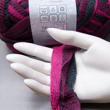 5.95 EUR pro 100 g Lana Grossa Retinella Tre 302 plum-pink-grey 100g Wolle