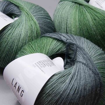 Lang Yarns merino 400 Lace color 17-ll 375m//50g-almidón aguja 2,5-3,5