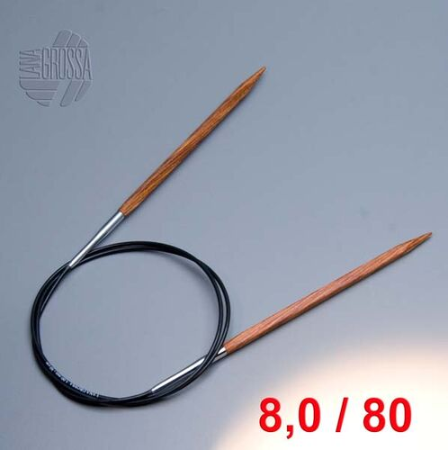 Lana Grossa Rundstricknadel Acrylglas  80cm 8,0mm