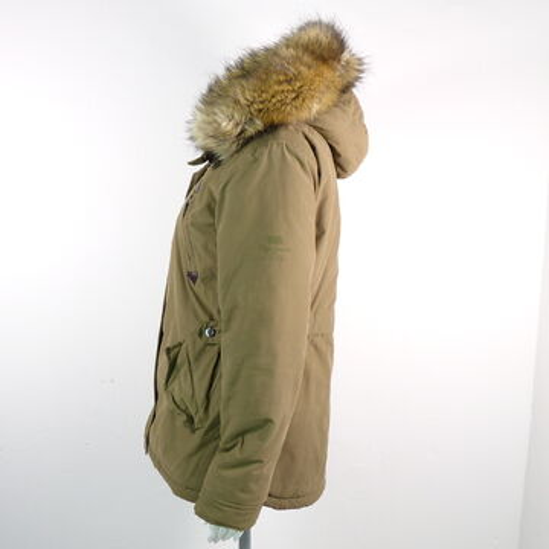Detalles de Pepe Jeans Parka chaqueta invierno señora talla s Olive webpelz chaqueta Coat ver título original