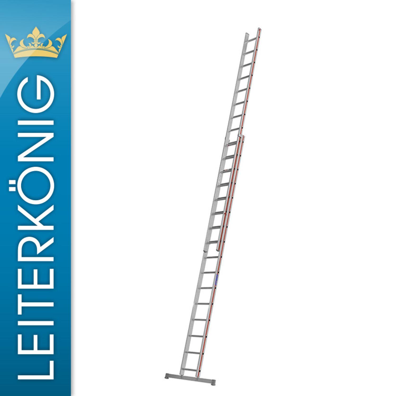 2 x 12 Sprossen Leiter AluLeiter Hymer 4046 Schiebeleiter zweiteilig