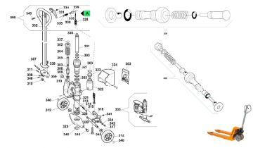 dichtsatz passend f r hubwagen fetra 2115 2120 ebay. Black Bedroom Furniture Sets. Home Design Ideas