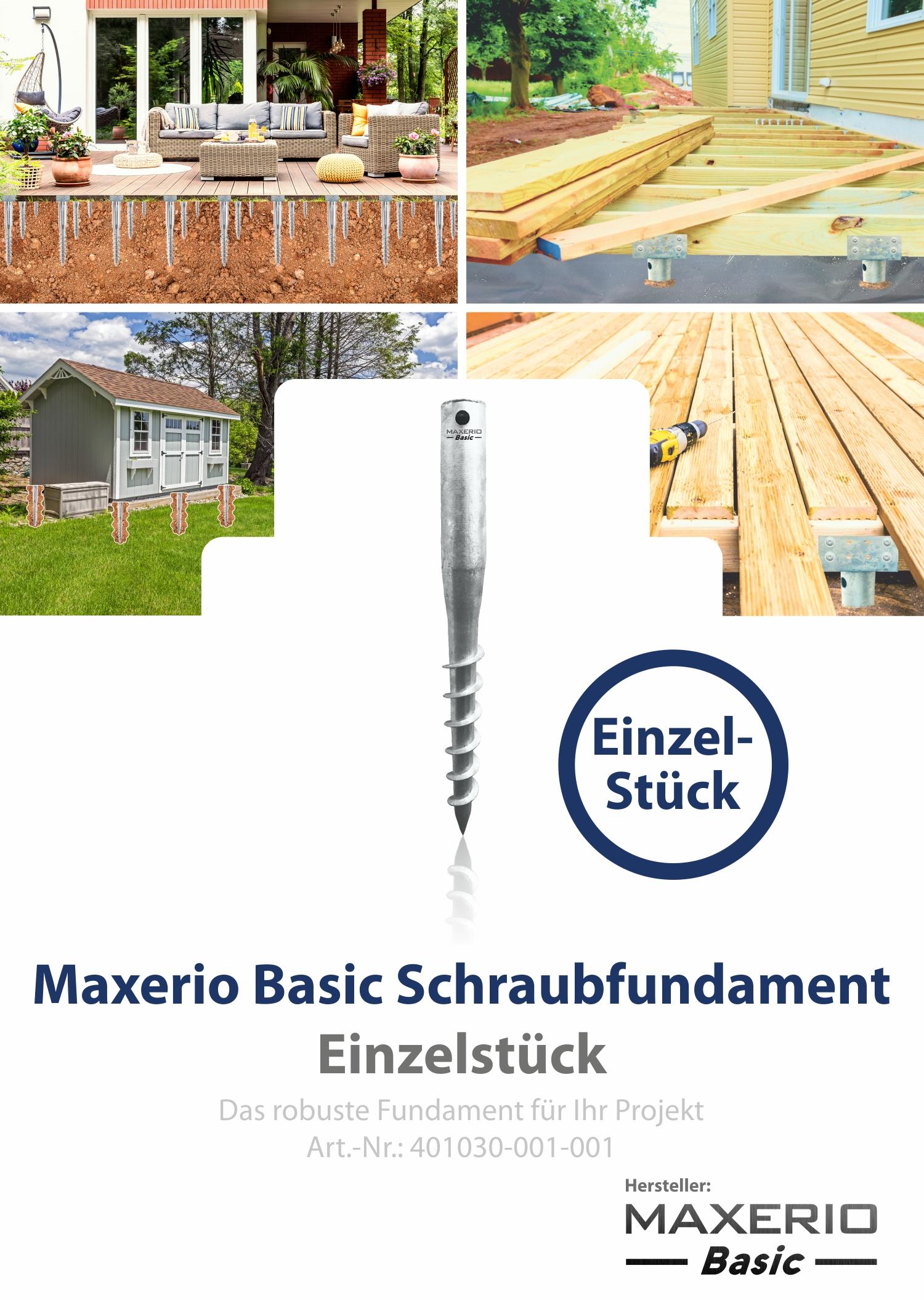 Indexbild 7 - Maxerio Schraubfundament; Ø 60 x 2; Länge: 600mm; M12