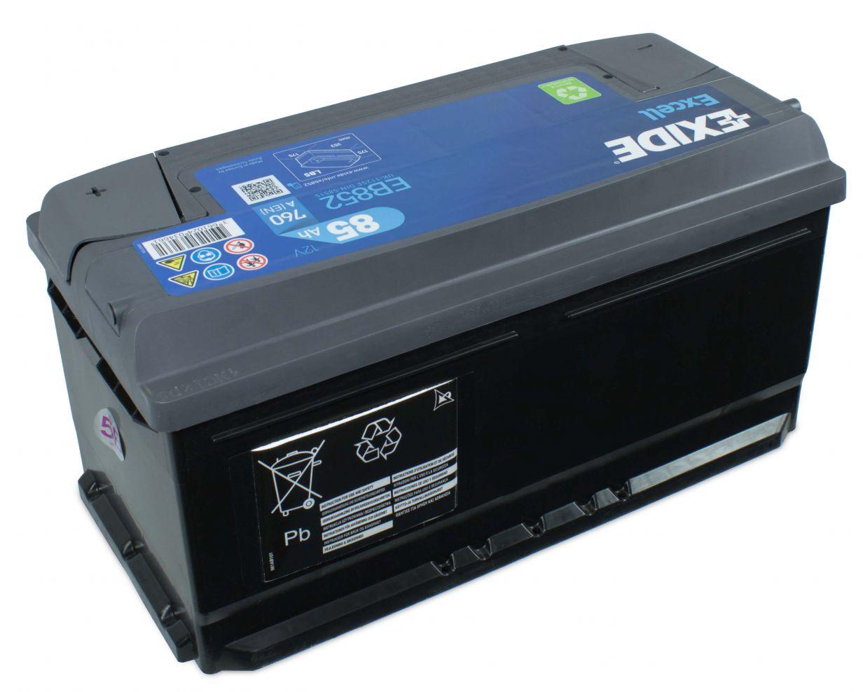 exide excell eb852 85ah 12v autobatterie starterbatterie. Black Bedroom Furniture Sets. Home Design Ideas