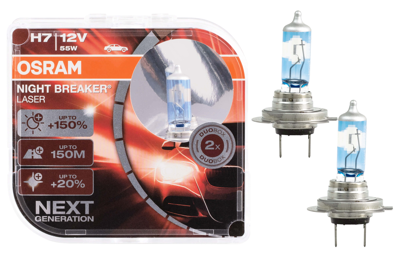 h7 osram night breaker laser next generation 150 birnen autolampen lampduo box ebay. Black Bedroom Furniture Sets. Home Design Ideas