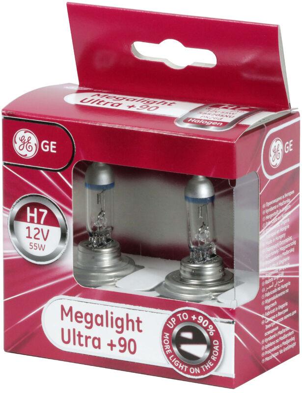 2x General Electric 58520DPU//1 H7 12V 55W PX26D Extra Life Halogen 2 Lampen