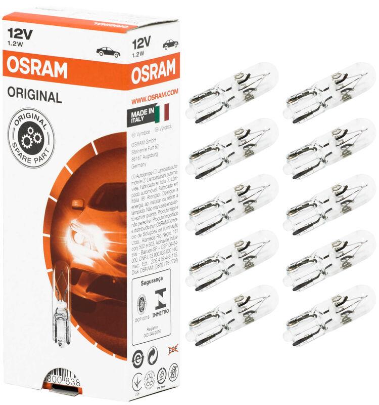 10X T5 12V Osram W2x4 Tachobeleuchtung Birne Glassockel ...