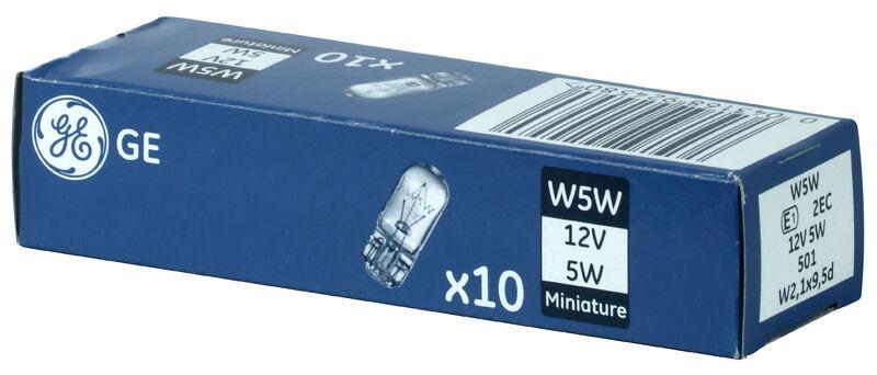 GE W5W 12V 5W  W2,1x9,5d General Electric Standlicht 10 Stück 501
