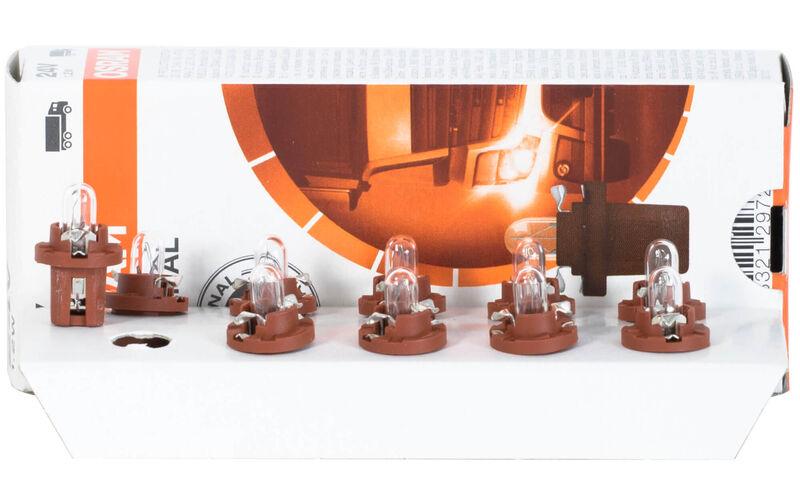 Osram 2452MFX6 Original Leiterplatteneinbau Sockel B x 8.4D Anzahl 10 10 Lampen 12V 1.5 W