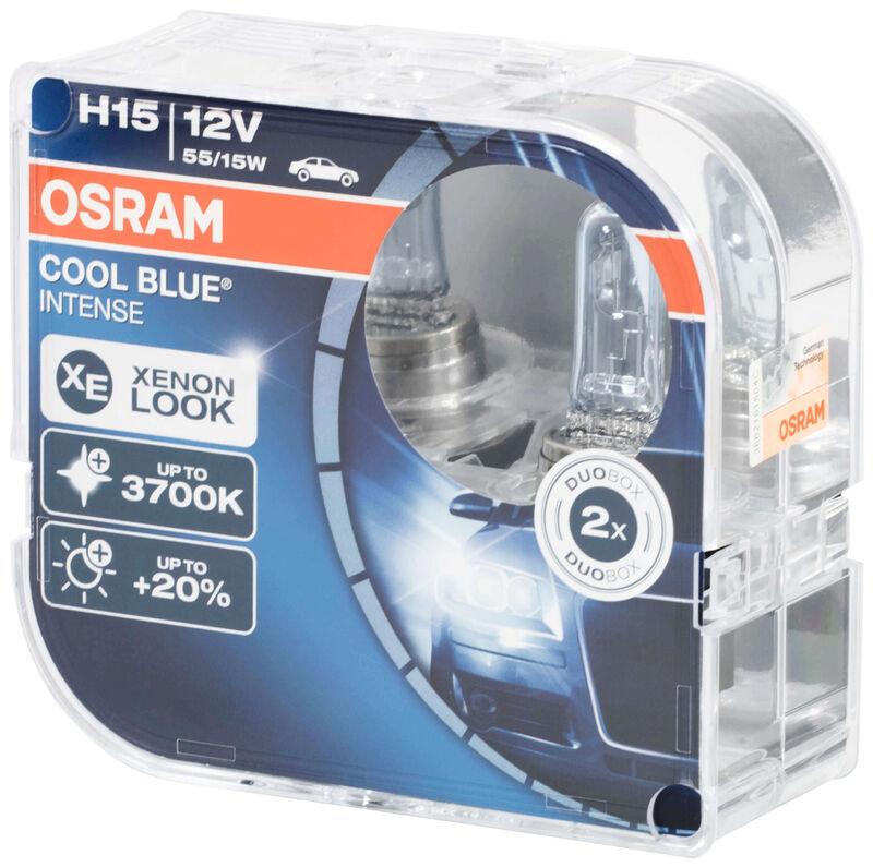 Osram H15 COOL BLUE INTENSE Bulbs x2 New +20/% 3700K Xenon Look 64176CBI-HCB