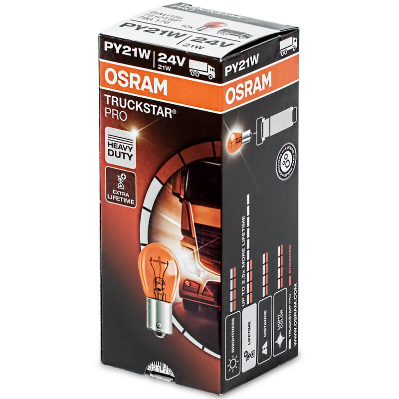 Osram Truckstar 7511TSP 24V P21W LKW-Lampe 10 St.