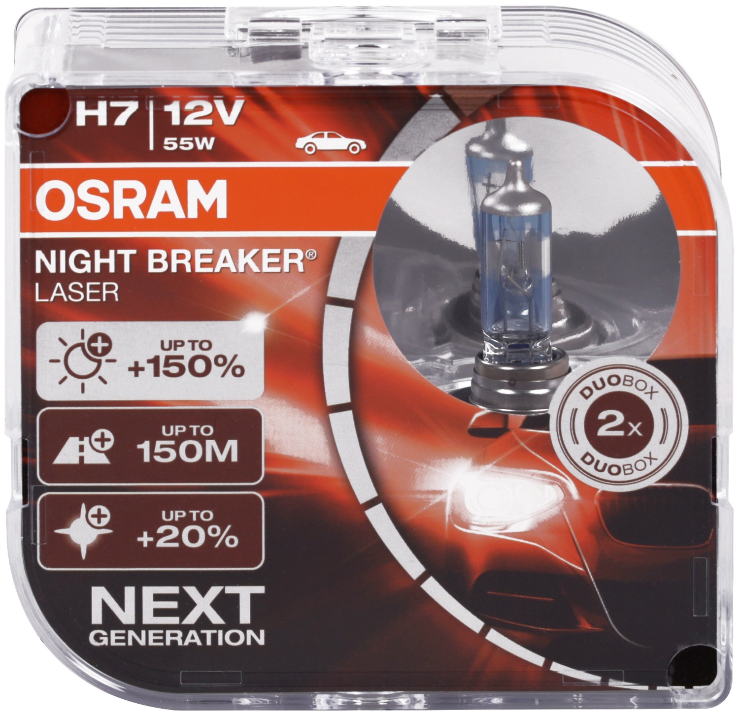 h7 osram night breaker laser next generation 150 birnen. Black Bedroom Furniture Sets. Home Design Ideas