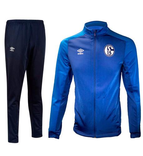 Shalke 04 Training pantalones fútbol pantalones aerobic fútbol azul marino caballeros umbro