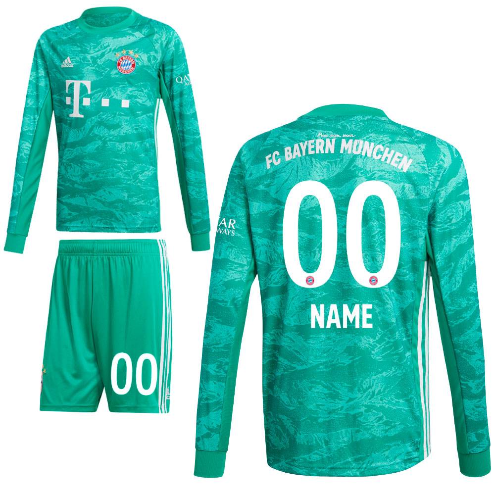premium selection b0dcc 9ed92 Details about Adidas FC Bayern Munich Men Kids Home Goalkeeper Kit 2019/20  Neuer 1 Shirt Short