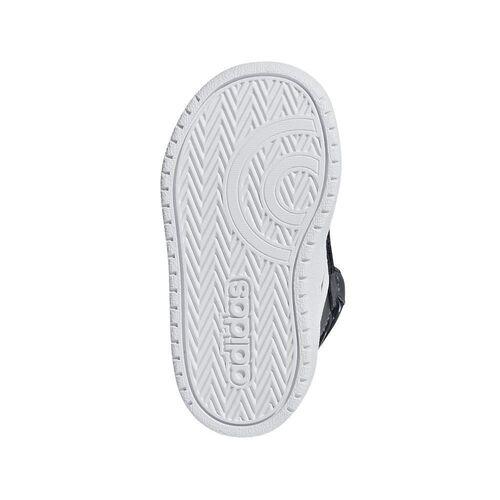 Details zu Adidas Basketball Hoops 2.0 Mid I Schuh Basketballschuhe Kinder grau weiß