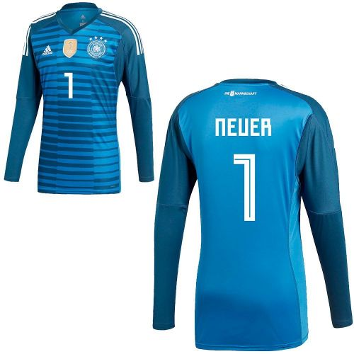 best loved b562a de661 Details about Adidas Mens Kids DFB Germany World Cup 2018 Home Goalkeeper  Jersey Shirt Neuer 1