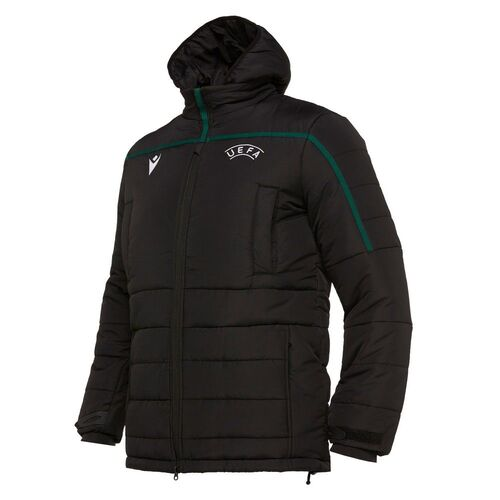 Macron Football Soccer Uefa Referee 19 Mens Hooded Stadium Down Jacket Full Zip Ebay