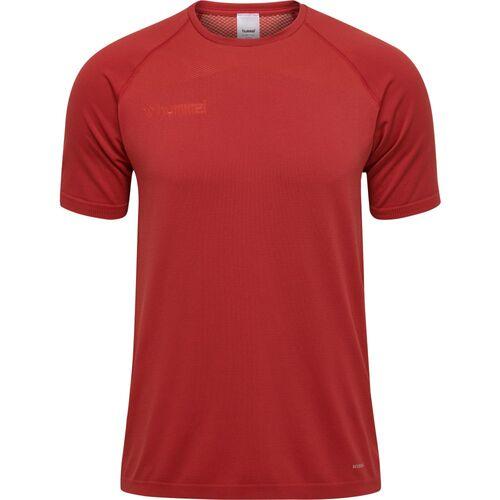 Hummel Football Soccer Mens Training Sports Short Sleeve SS Jersey Shirt Top
