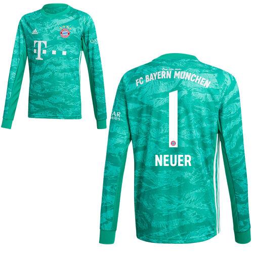 Details about Adidas FC Bayern Munich Men Kids Home Goalkeeper Kit 201920 Neuer 1 Shirt Short