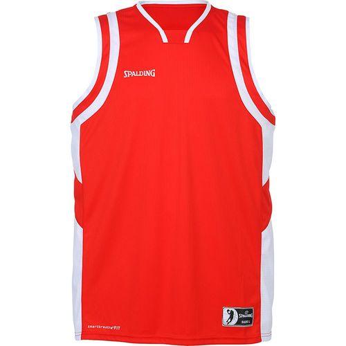 Spalding Basketball Womens Sports Training Vest Tank Top Sleeveless Shirt Red Wh