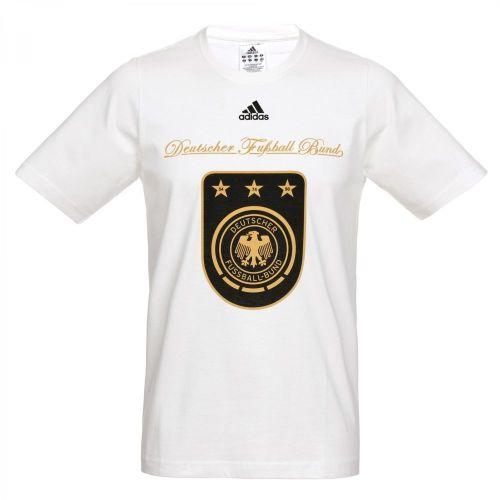billig Details zu Adidas Damen Fußball Deutschland DFB Fan T Shirt Fanshirt Frauen weiß schwarz  Schlussverkauf