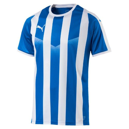 ec89cfbf590 Puma Mens Sports Football Soccer Jersey Shirt Striped Top Short Sleeve Crew  Neck