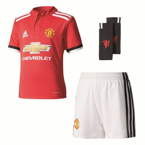 Adidas Kids Football Manchester United FC MUFC Home Mini Kit Set 2017 2018 12b89b2a2