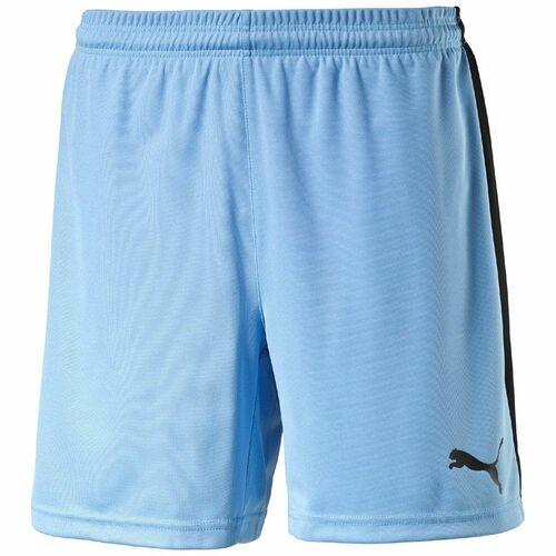 a84d22f0 Puma Kids Sports Football Training Pitch Shorts Junior Blue Black   eBay
