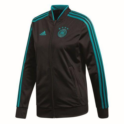Details zu Adidas Damen Fußball DFB Deutschland 3 Streifen Jacke Frauen schwarz grün blau