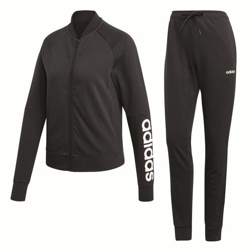 Details zu Adidas New Cotton Marker Tracksuit Trainingsanzug Damen schwarz