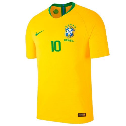 Nike Football Brazil CBF Kids Home Jersey Shirt 2018 World Cup Neymar Jr 10 ecacc9f14bf