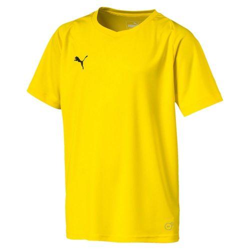 037f26218b Details about Puma Kids Liga Core Sports Football Soccer Short Sleeve  Jersey Shirt Top V Neck