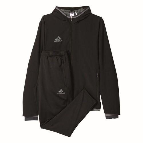 Details zu Adidas Fußball Condivo 16 Präsentationsanzug Kinder Sportanzug schwarz grau