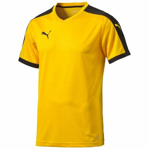 Details about Puma Pitch Mens Sports Football Jersey T Shirt Top Short  Sleeve Yellow Black