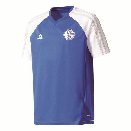 Details about Adidas Kids FC Schalke 04 Football Sports Training Jersey Shirt Top Blue White