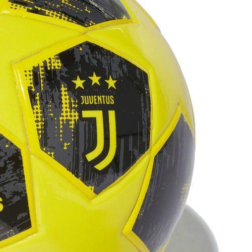 62a05fd370 Adidas Football Soccer Juventus FC JFC Finale 18 Mini Ball Yellow Carbon  Black