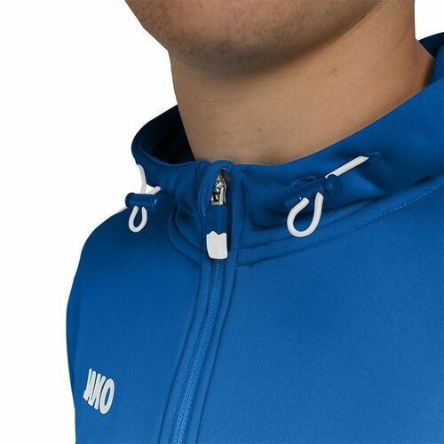 Details about  /Jako Football Soccer Sports Mens Hooded Jacket Long Sleeve Full Zip Track Top