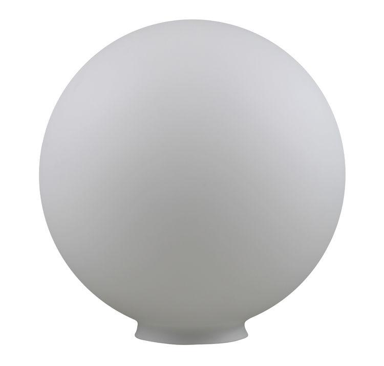 Ersatzglas Opalglas Lampenglas Opalkugel weiß glänzend Ø200mm mit Griffrand 90mm