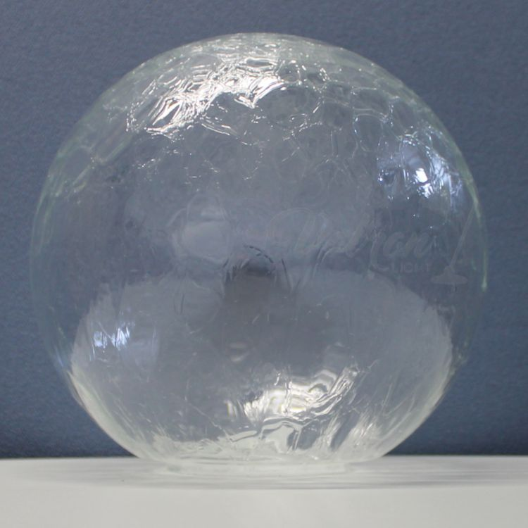 Ersatzglas Glaskugel Lampenglas Lampenschirm Struktur//Krakele Ø250mm Loch Ø100mm