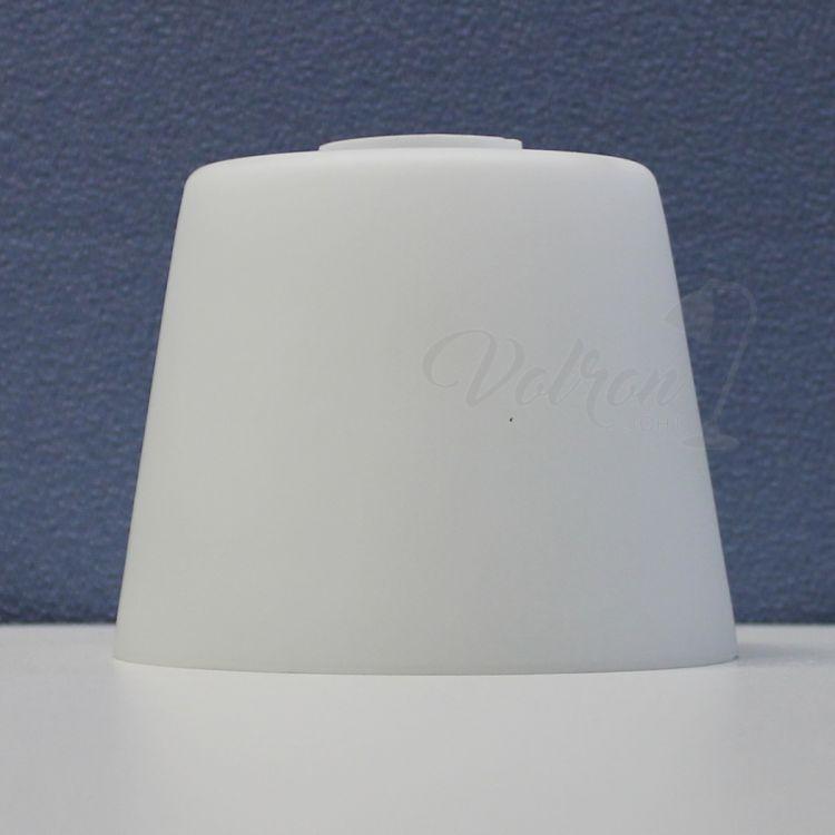 paralume vetro lampada Ø115 / 85 mm Conici E14 opale bianco opaco   eBay