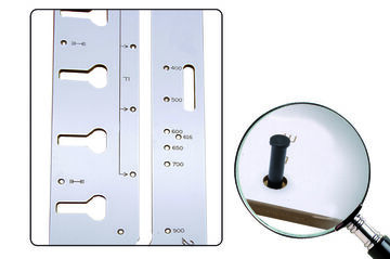 Fräshilfe Verbindung Arbeitsplatten Fixierstifte 900mm       Schablone Oberfräse