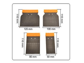 12 tlg Set Japanspachtel 50-120mm Spachtel Flächenspachtel Metallspachtel Metall