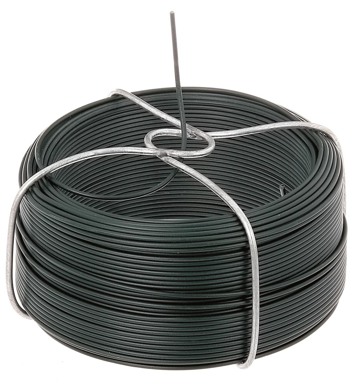 Drahtspule Stahl verzinkt grün kunststoffbeschichtet Drahtstärke: 1 ...