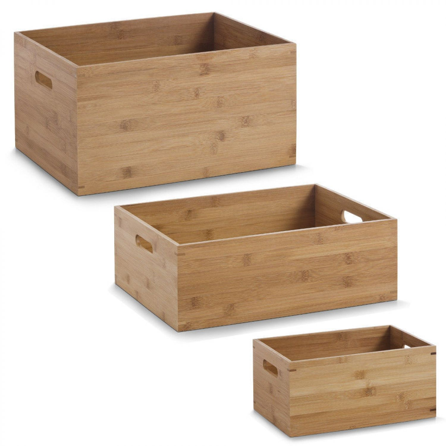 allzweckkiste bambus holz kiste holz box spielzeugbox box kiste gr e w hlbar ebay. Black Bedroom Furniture Sets. Home Design Ideas