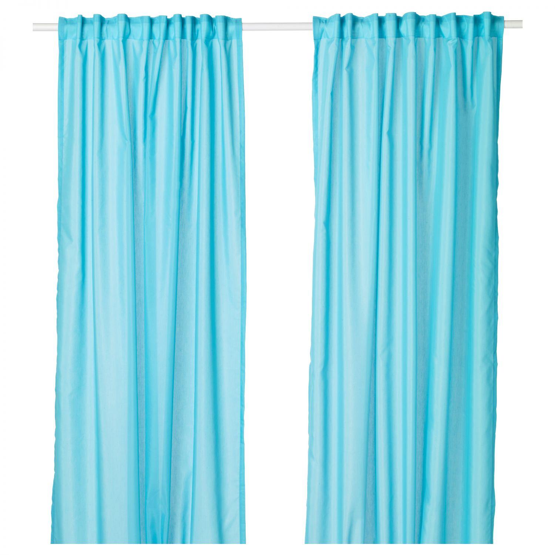 ikea vivan 2x gardinen schal vorhang set paar vorh nge 300 x 145 cm t rkis 4060415002750 ebay. Black Bedroom Furniture Sets. Home Design Ideas