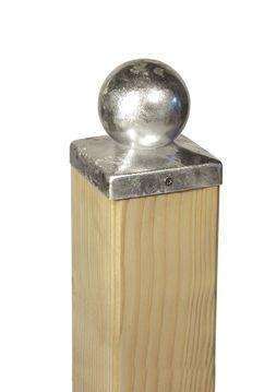 Durchmesser Pfostenkappe für Holzpfosten Zaunkappen Stahl feuerverzinkt versch