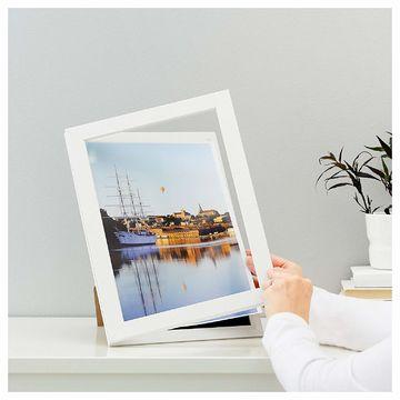 ikea hemmingsbo a4 bilderrahmen 21x30 cm rahmen passepartout fotorahmen wei ebay. Black Bedroom Furniture Sets. Home Design Ideas