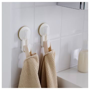 Ikea Stugvik 2x Haken Mit Saugnapf Weiß Saughaken Handtuchhalter