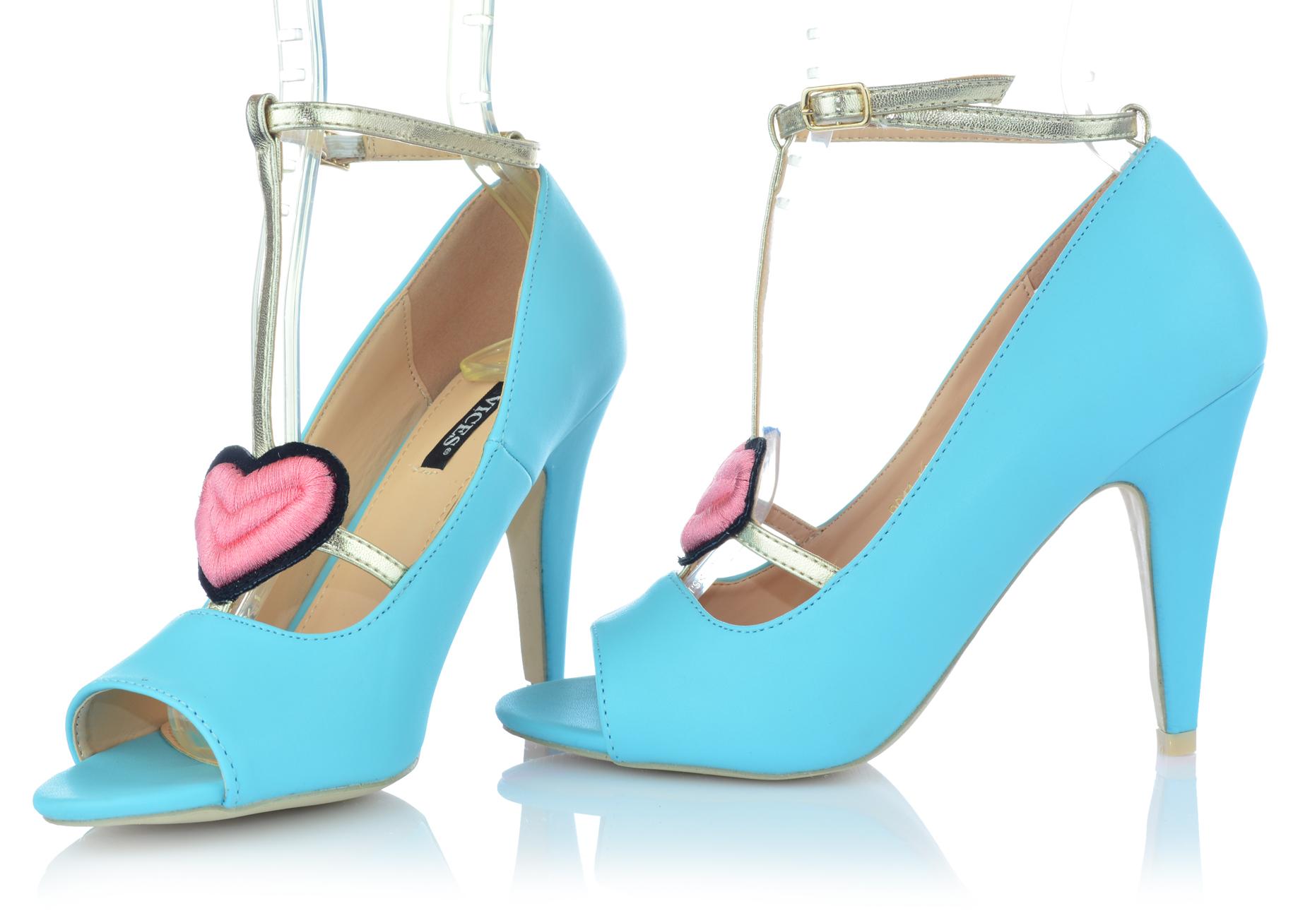 Zapatos-senora-tacon-alto-Stiletto-pumps-noche-zapatos-peep-con-tiras-zapatos-de-fiesta miniatura 8