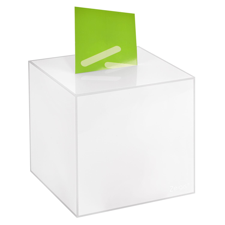 undurchsichtig //Acrylglas blickdicht Aktionsbox 200x200x200mm opal Losbox
